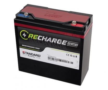 Μπαταρία STANDARD RECHARGE βαθείας εκφόρτισης VRLA AGMGEL12027 12V 27.0C20/25.0C10/23.5C5 AH
