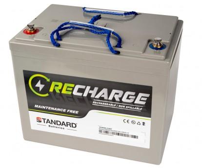 Μπαταρία STANDARD RECHARGE βαθείας εκφόρτισης VRLA AGMGEL12100 12V 100.0C20/90.0C10/85.0C5 AH
